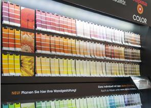 Mobau Farben und Tapeten Ausstellung Lacke